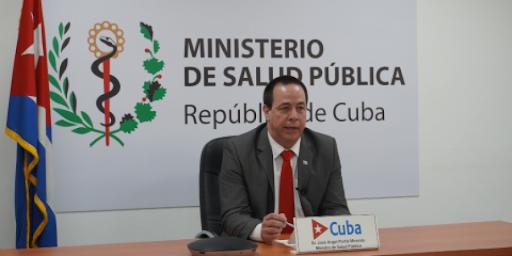 """El ministro de Salud Pública José Angel Portal intervino en la reunión sobre el tema: """"Acabar con las desigualdades y encaminarnos hacia el fin del SIDA para el 2030""""."""