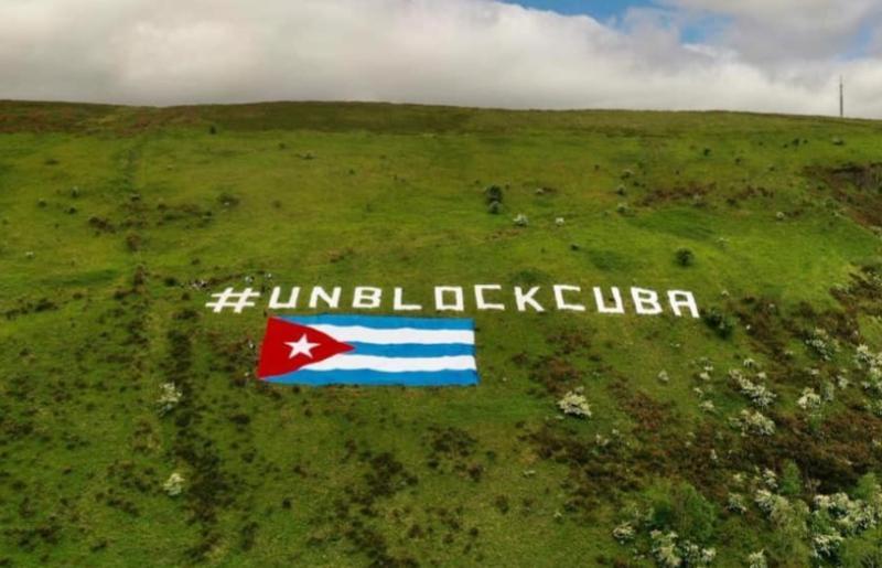 cuba, irlanda, solidaridad con cuba, bandera cubana, bloqueo de eeuu a cuba