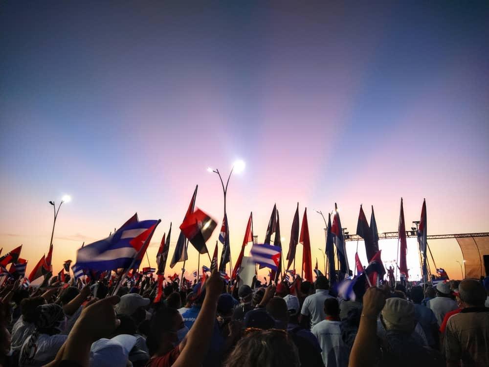 El pueblo habanero volvió a denunciar las agresiones sufridas por el país en los últimos días.