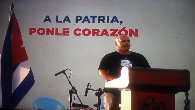 """Gerardo Hernández: """"Esto es una Revolución que la hicieron Fidel y Raúl por los humildes y para los humildes. Y seguirá siendo para los humildes y por los humildes""""."""