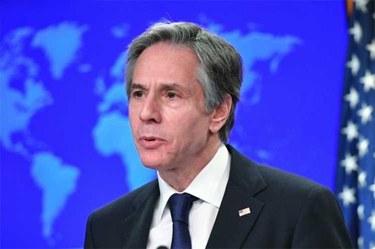 Blinken dialogó con el ministro de Asuntos Exteriores de España y entre los temas abordados estuvo el supuesto apoyo del ejecutivo norteño a los 'derechos de los cubanos'. (Foto: PL)