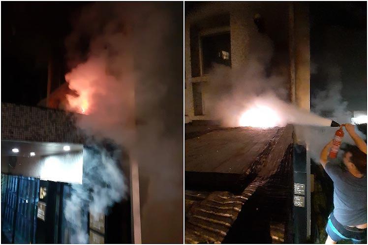 El hecho ocurrió al final de la noche de este 26 de julio en la capital francesa. (Foto: Embajada cubana en París)