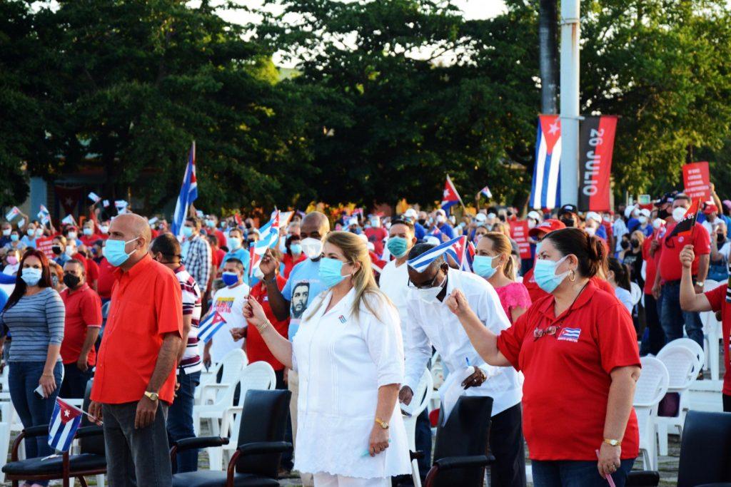 Las máximas autoridades políticas y de Gobierno de la provincia y el municipio espirituano encabezaron el acto.