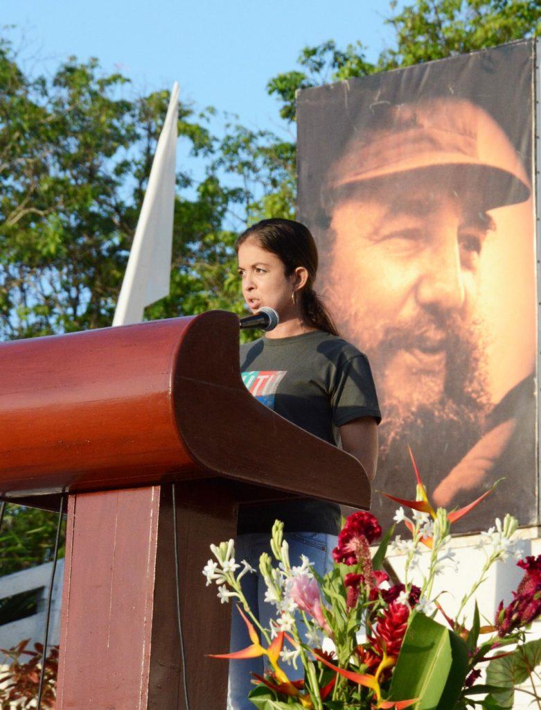 Yediza Pérez reafirmó que la juventud es un baluarte en este país, aunque algunos traten de difundir lo contrario.