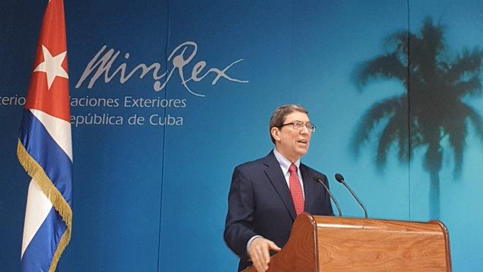 Estados Unidos ejerce presión y chantaje contra terceros países para incitar pronunciamientos contra Cuba, ratificó Bruno Rodríguez.