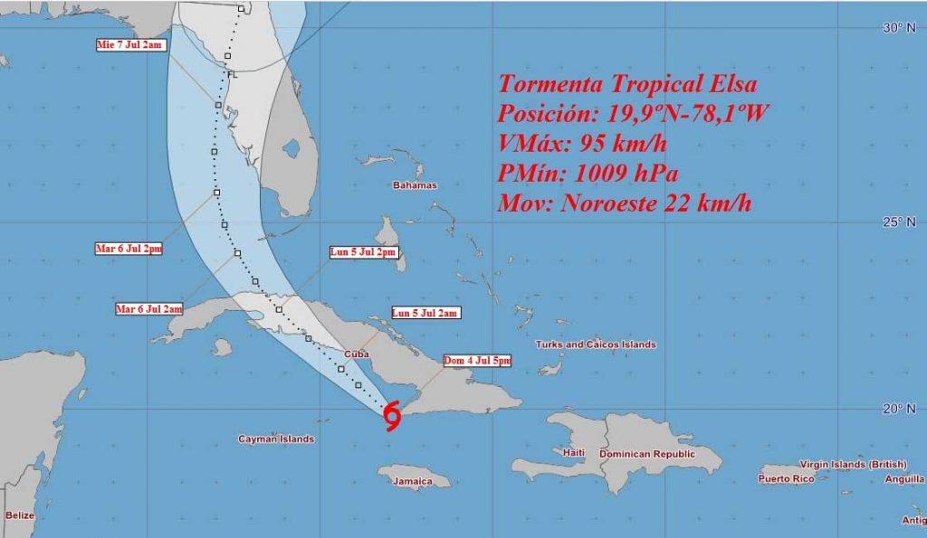Se prevé que en las próximas 12 a 24 horas el sistema ciclónico continúe con rumbo al noroeste, con similar velocidad de traslación.