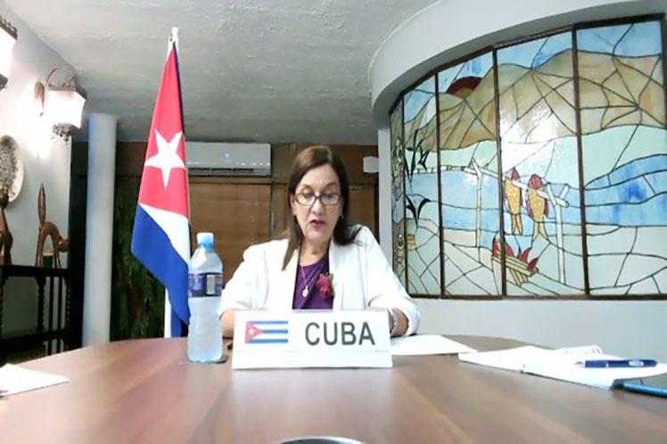 La ministra cubana aseveró que la acción colectiva es urgente dado el impacto del cambio climático visible en el mundo cada vez más. (Foto: PL)