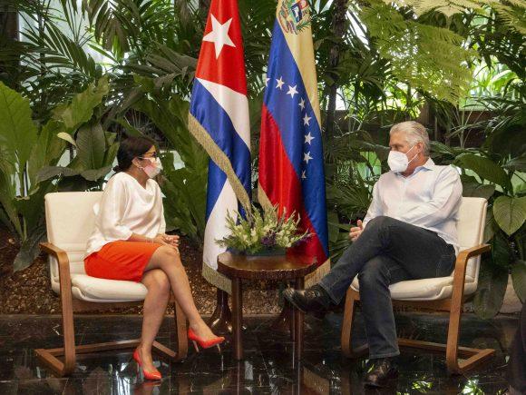Durante el encuentro ambos dirigentes dialogaron sobre los principales aspectos de los vínculos de cooperación entre las dos naciones. (Foto: Estudios Revolución)