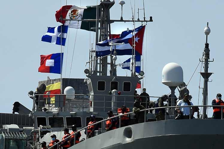Este es el primero de tres barcos enviados por México con ayuda humanitaria. (Foto: PL)