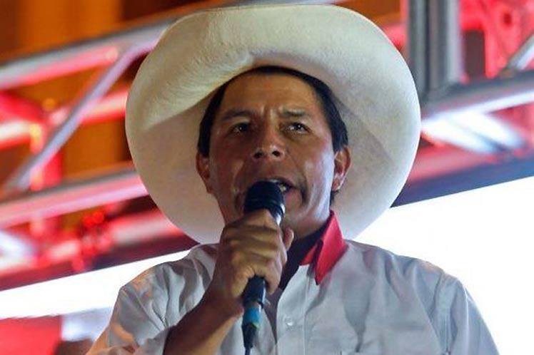 Pedro Castillo podría proclamarse oficialmente la próxima semana como ganador del balotaje en Perú. (Foto: PL)
