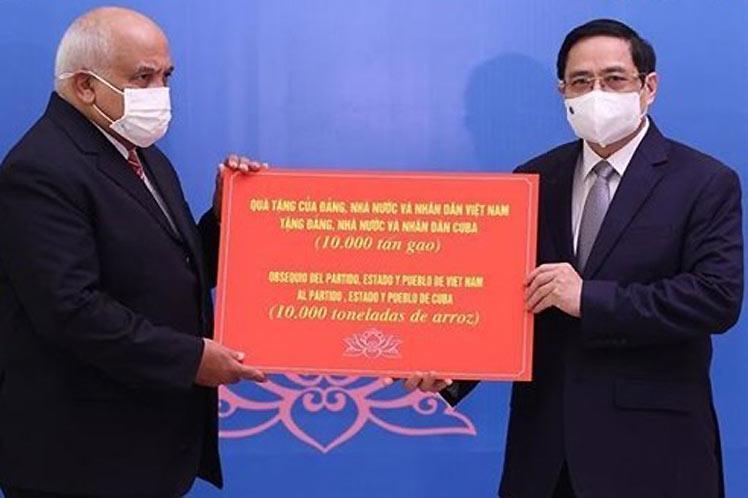 cuba, vietnam, donativos, solidaridad con cuba, covid-19, bloqueo de eeuu a cuba