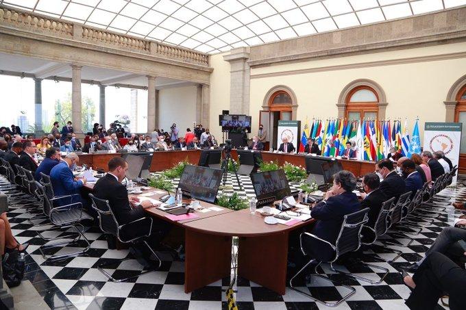 México acoge la XXI Reunión de Cancilleres de la Comunidad de Estados de Latinoamérica y el Caribe.