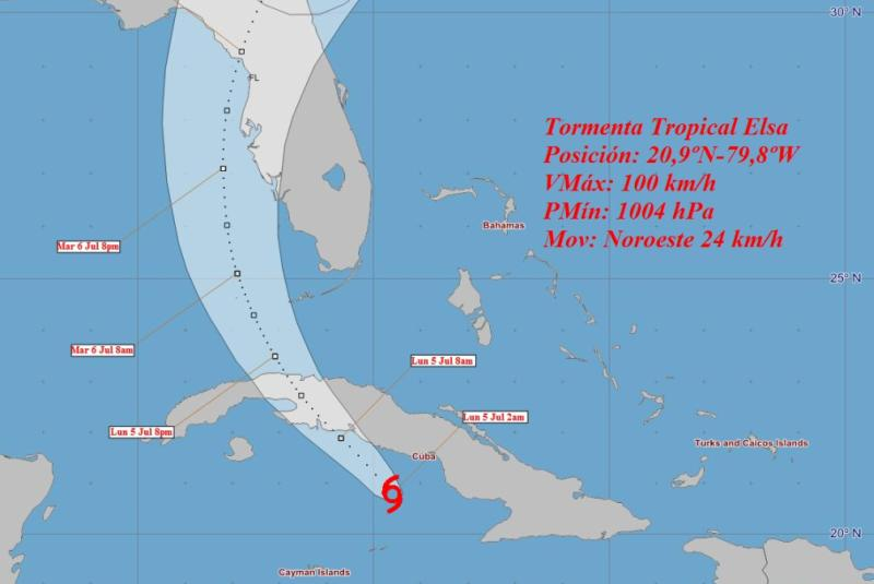 cuba, meteorologia, instituto de meteorologia, insmet, tormenta tropical elsa, ciclones, huracanes, lluvias