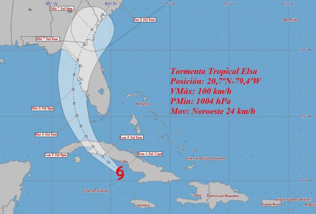 Los nublados y las lluvias continuarán afectando gran parte del país, de acuerdo con el Aviso de ciclón tropical número 19 del Instituto de Meteorología.