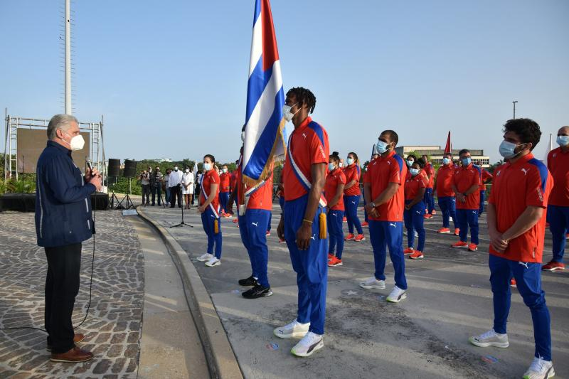 cuba, juegos olimpicos tokio 2021, olimpiadas, atletas cubanos, miguel diaz-canel