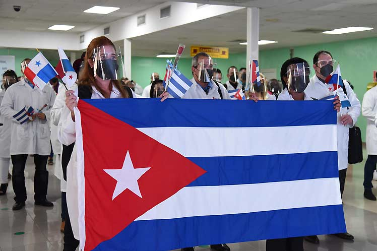 A ambas agrupaciones el presidente Miguel Díaz-Canel los dio la bienvenida de forma virtual. (Foto: PL)