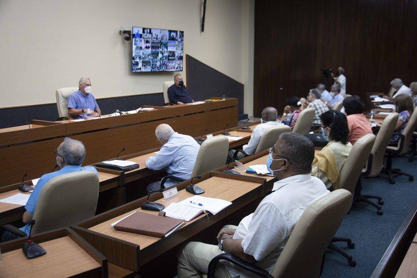 En la reunión del Grupo Temporal, se hizo un análisis crítico de la situación epidemiológica del país. (Foto: Estudios Revolución)