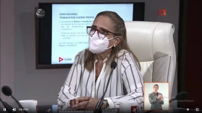 Meisi Bolaños, ministra de Finanzas y Precios.