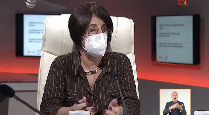 Marta Elena Feitó, ministra de Trabajo y Seguridad Social.