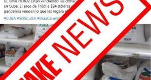 Cuba, cimex, donaciones, alimentos, solidaridad con cuba, fake news, redes sociales, facebook