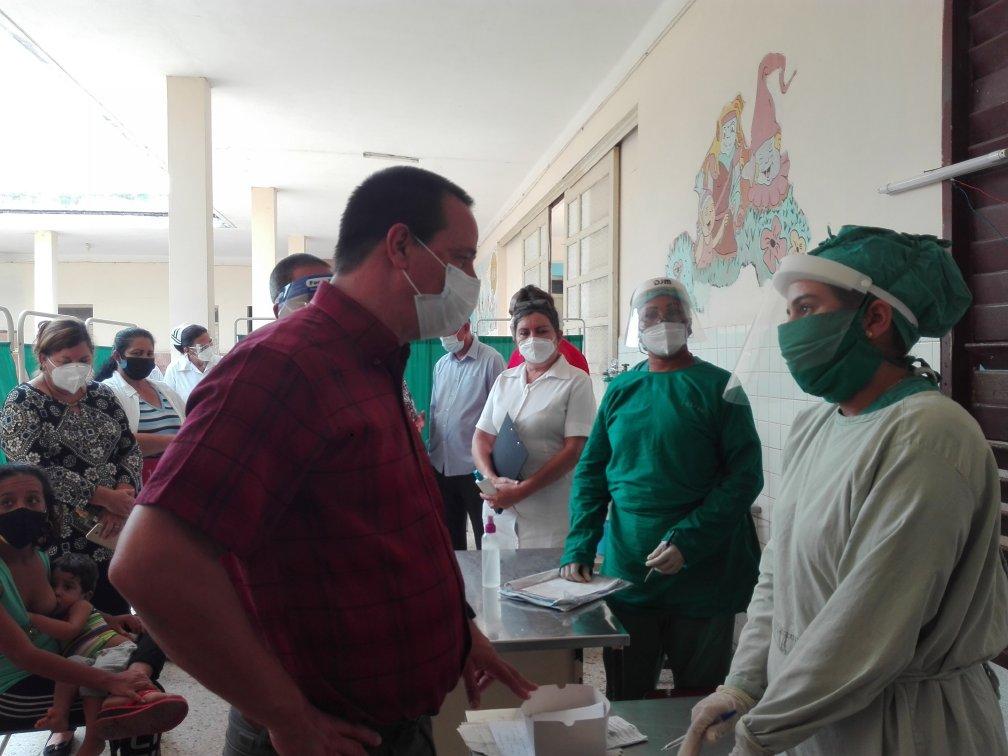 Portal Miranda dialogó con el personal sanitario sobre protocolos de atención a los pacientes y garantía de medios de protección.