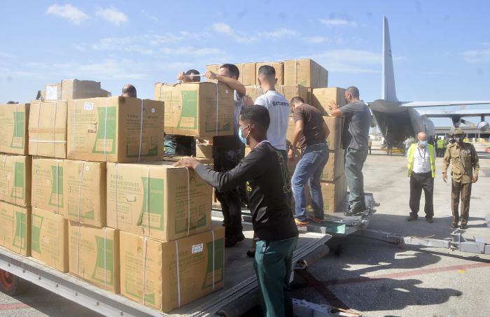 cuba, argentina, donaciones, covid-19, vacuna contra la covid-19, solidaridad con cuba, miguel diaz-canel