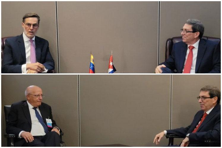 El canciller cubano también dialogó en la ONU con sus homólogos de Venezuela y Portugal. (Foto: PL)