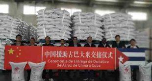 china, cuba, solidaridad con cuba, donaciones, arroz